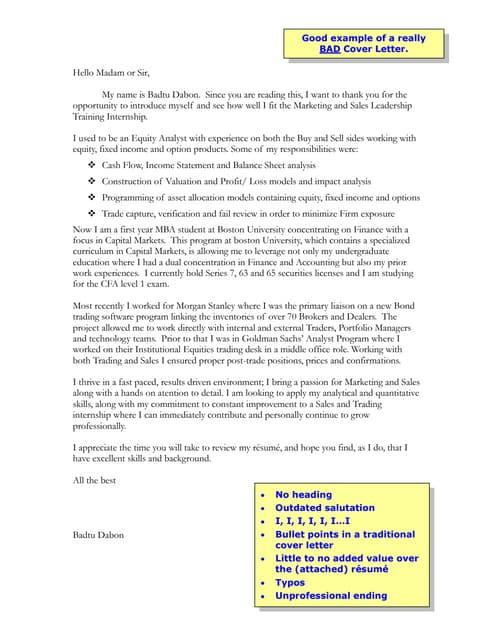 prospecting cover letter