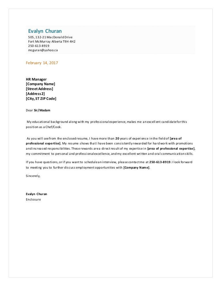Cover letter for functional resume