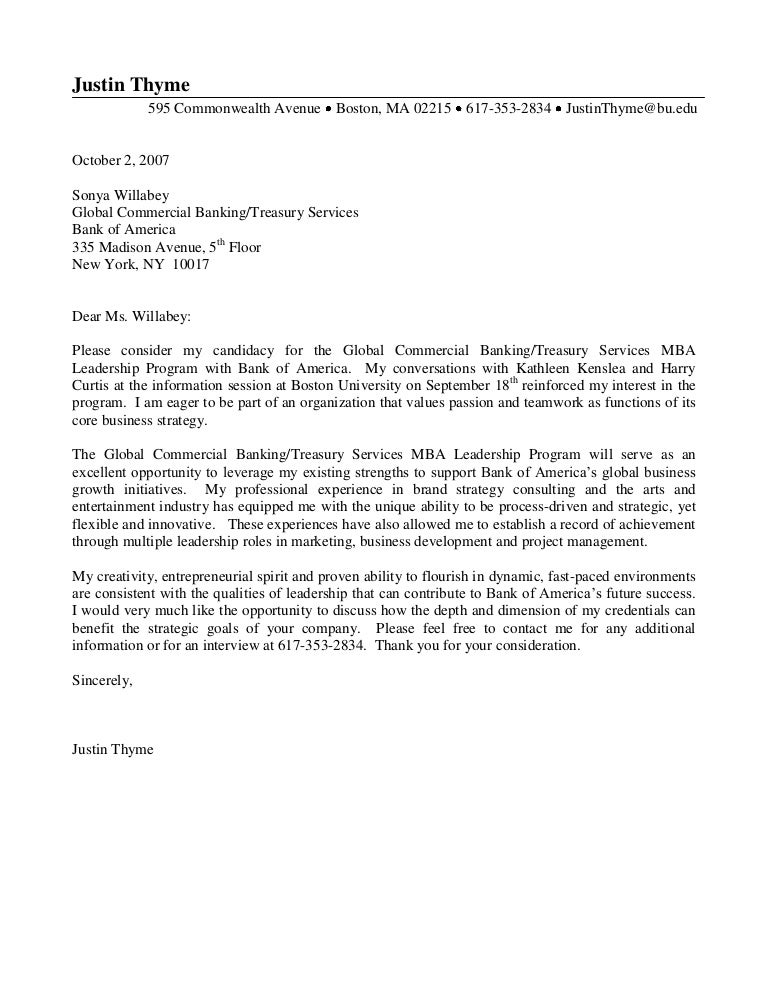 good cover letter example 3 - Cover Letter For Banking