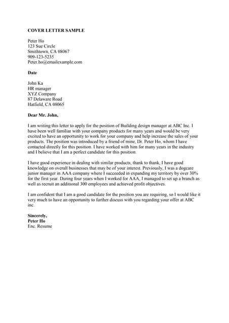 SlideShare  Sample Cover Letters For Internships