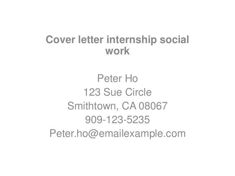 Cover letter internship social work