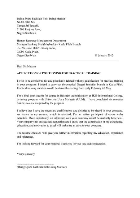 contoh cover letter odp bni