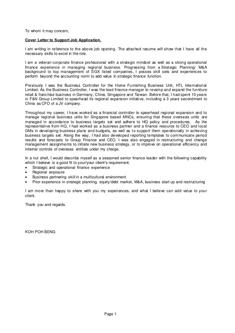 Emejing Business Unit Leader Cover Letter Contemporary - Printable ...