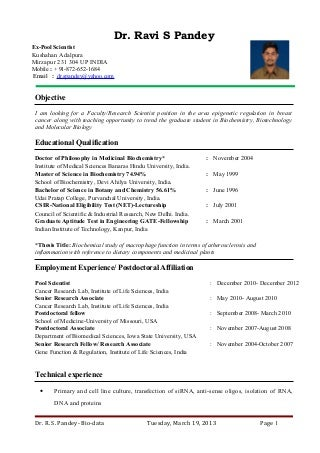 Curriculum Vitae - School of Public Health