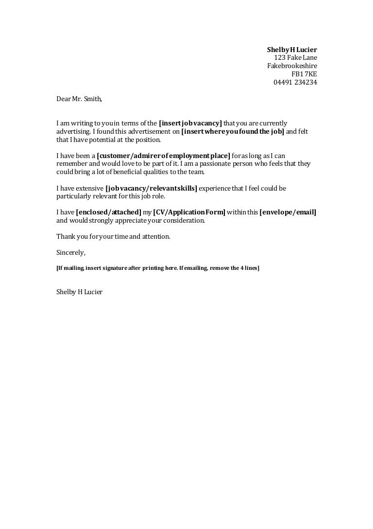 Cover letter template spiritdancerdesigns Gallery