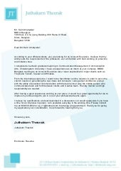 Cover letter with letterhead