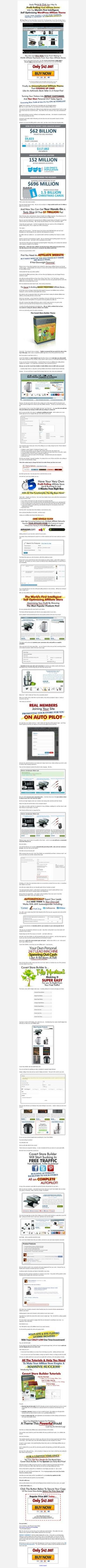 Covert Store Builder - The World's First Intelligent, Self Optimizing WordPress Affiliate Store Theme