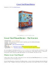 Covert Viral Wizard Review – Get Ultimate Bonus $2000+