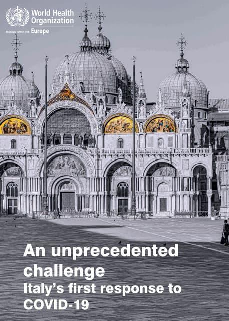 Il report dell'Oms sull'Italia scomparso dal sito