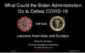 What Could the Biden Administration Do to Defeat COVID-19: Lessons from Asia and Europe