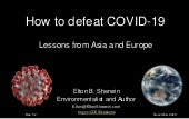 How to defeat COVID-19: Lessons from Asia and Europe