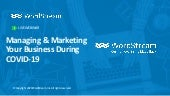 Managing & Marketing Your Business During COVID-19