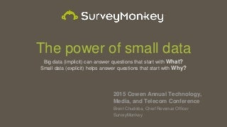 Cowen 2015 Tech Conference (05-15)