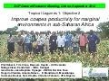 GRM 2013: Improve cowpea productivity for marginal  environments in sub-Saharan Africa -- P Roberts