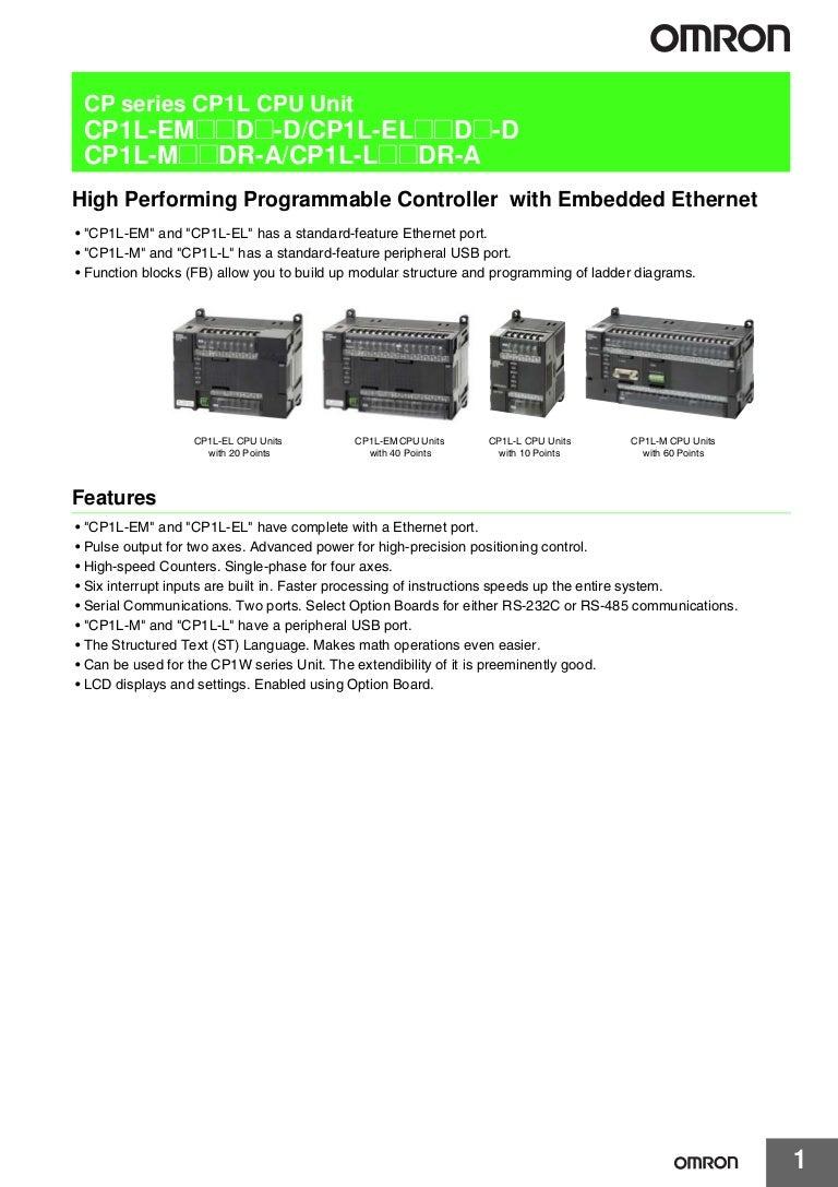 Cp1l P081 E1 2 1 Csm1004101 Ok Energy Saver Circuit Diagrams On Wiring Diagram Plc Omron Control