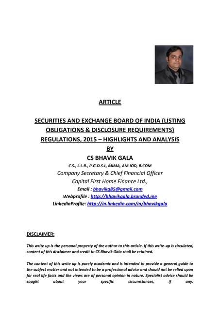Regular compliances of listing agreement platinumwayz
