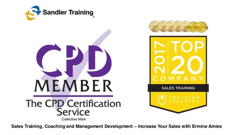 Cpd Certification And Top 20 Award For Sales Business Development T