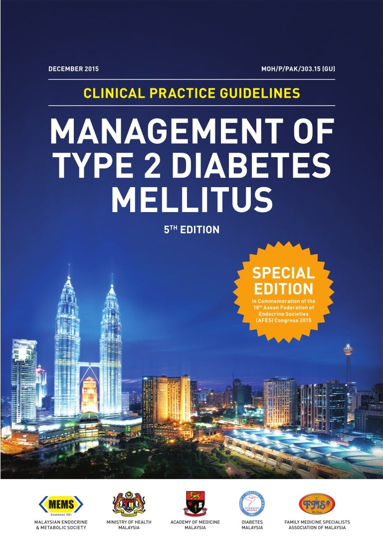 Cpg Management Of Type 2 Diabetes Mellitus 5th Edition Special Afes