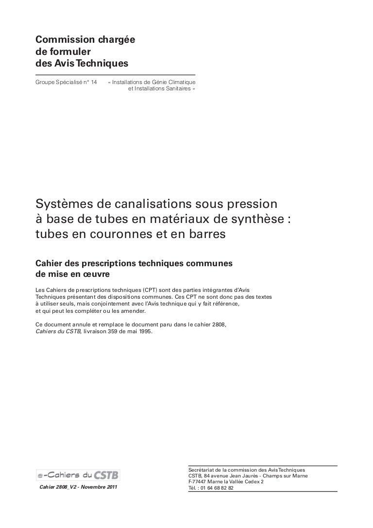 Beton De Synthese Avis cpt 2808 (version novembre 2011)
