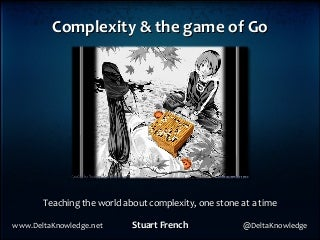 CPX 2011 Complexity and the game of go