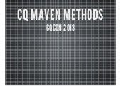 CQCON CQ Maven Methods