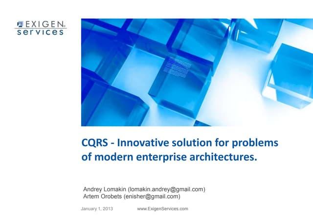 CQRS innovations (English version)