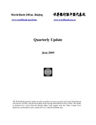 Quarterly Update - June 2009