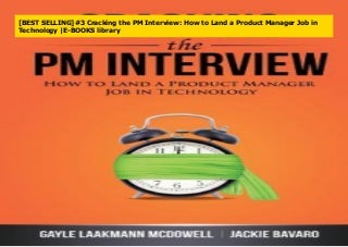 [BEST SELLING]#3 Cracking the PM Interview: How to Land a Product Manager Job in Technology -E-BOOKS library
