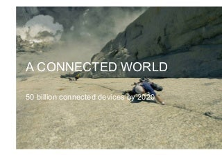 A CONNECTED WORLD 50 billion connected devices by 2020