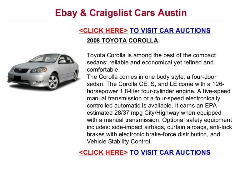 Ebay & Craigslist Cars Austin