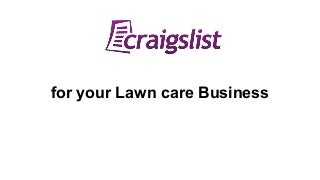 Craigslist for Lawn Care Businesses