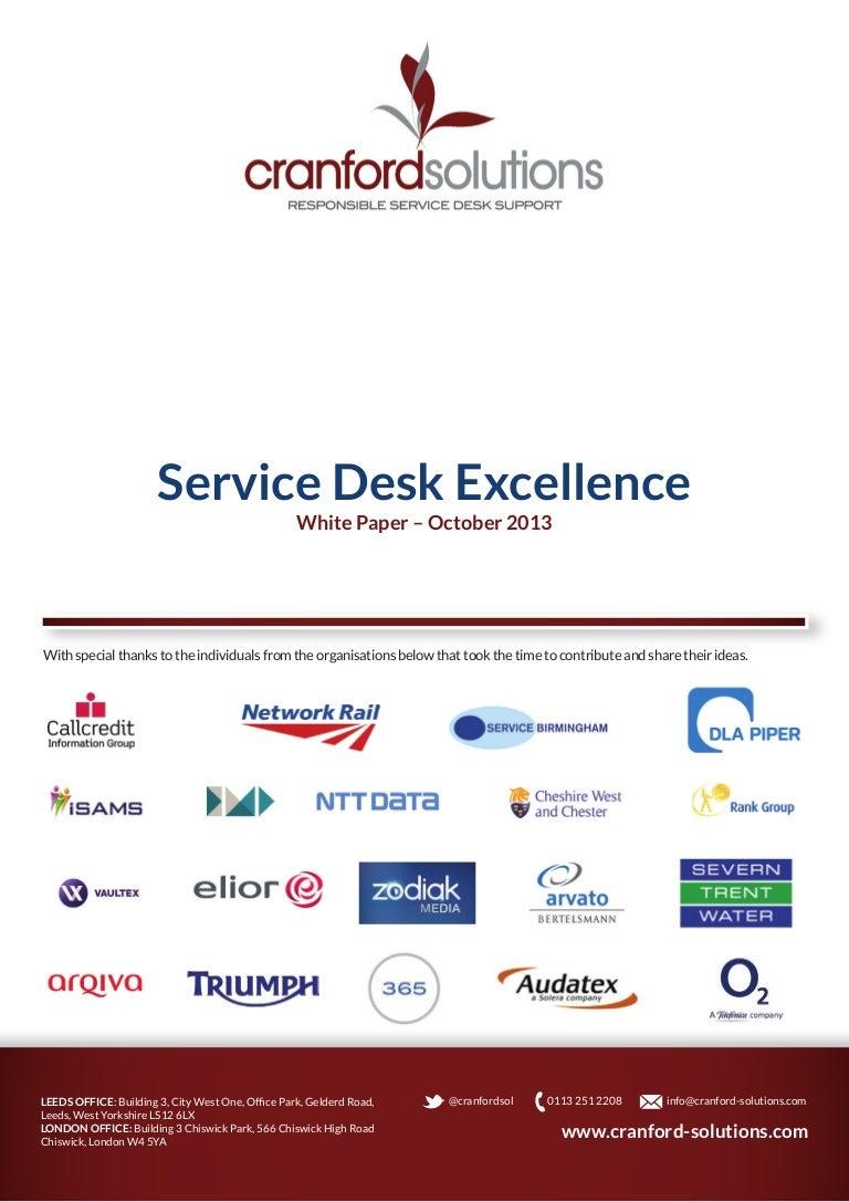 Service desk thesis