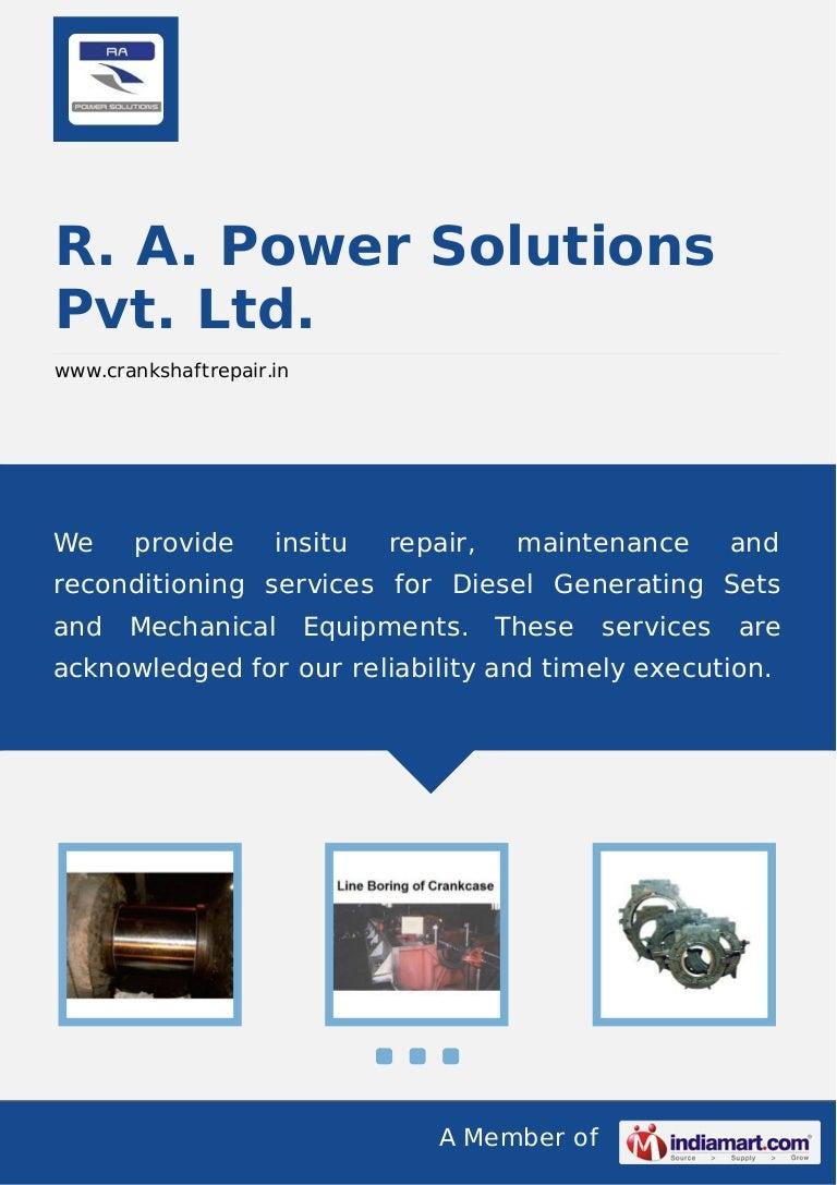 R  A  Power Solutions Pvt  Ltd , Gurgaon, Rotor Shaft Grinding