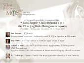 Webinar: Global Supply Chain Dynamics & The Changing Risk Management Agenda