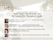 Global Supply Chain Dynamics and the Changing Risk Management Agenda - Part II