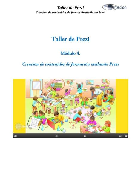 Creación de contenidos de formación mediante Prezi