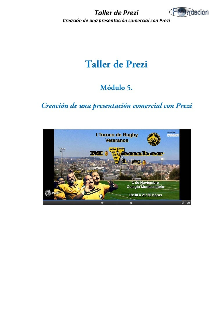 Creación de una presentación con fines comerciales módulo 5