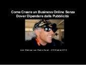 Come Creare un Business Online Senza Dover Dipendere dalla Pubblicità