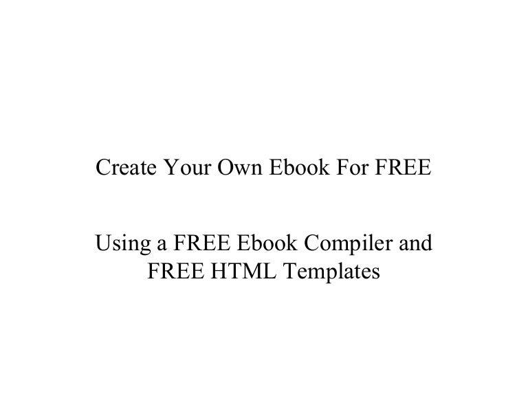 Creare a free ebook using html templates spiritdancerdesigns Gallery