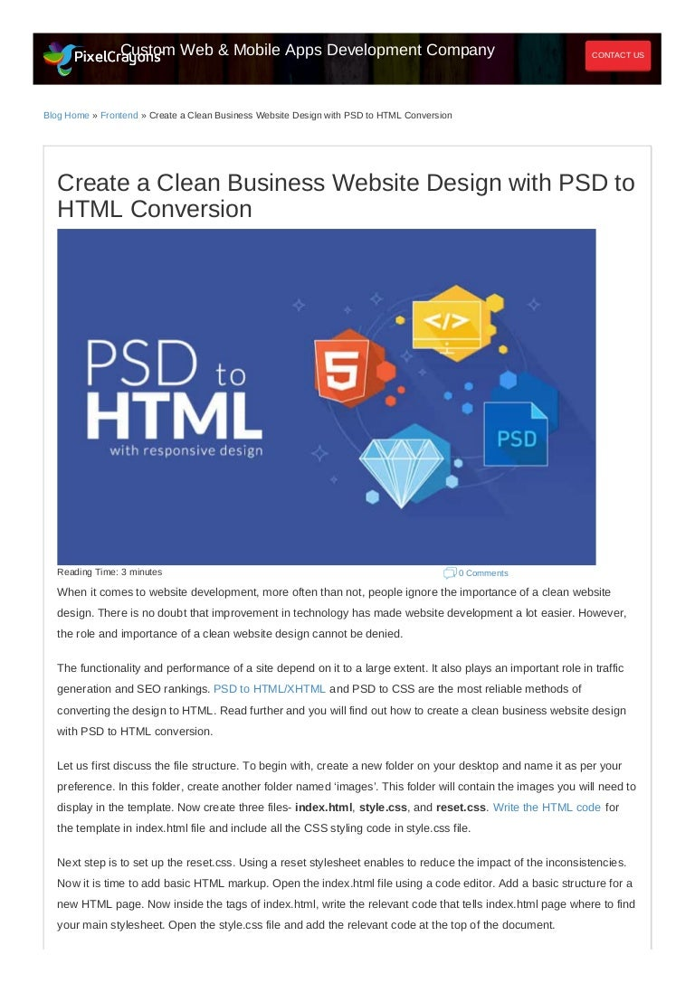 Create A Clean Business Website Design With Psd To Html Conversion
