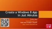 Create a Windows 8 App in minutes
