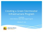 Creating Green Infrastructure