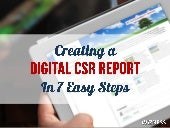 How to create a Digital CSR or Sustainability Report in 7 Steps
