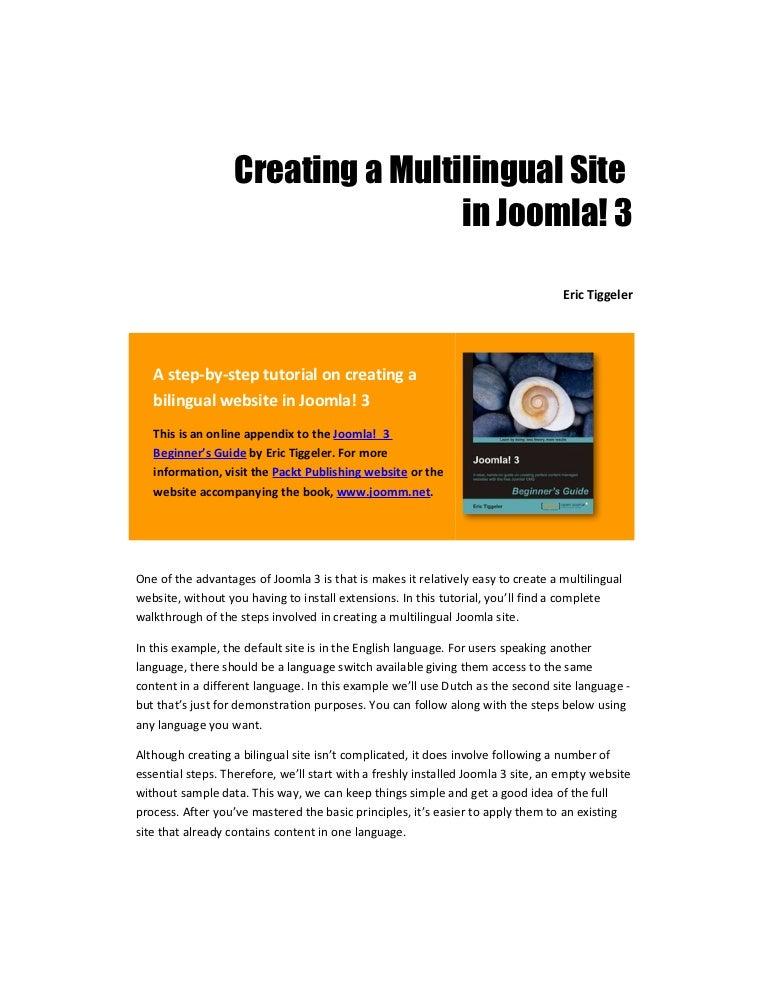 Creating a multilingual site in joomla 3 joomla 3 beginners guide maxwellsz