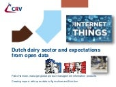 Dutch dairy sector and expectations from open data