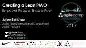 Creating a Lean PMO. Empower People, Enable Flow
