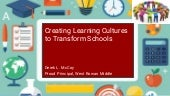 Creating Learning Cultures to Transform Schools