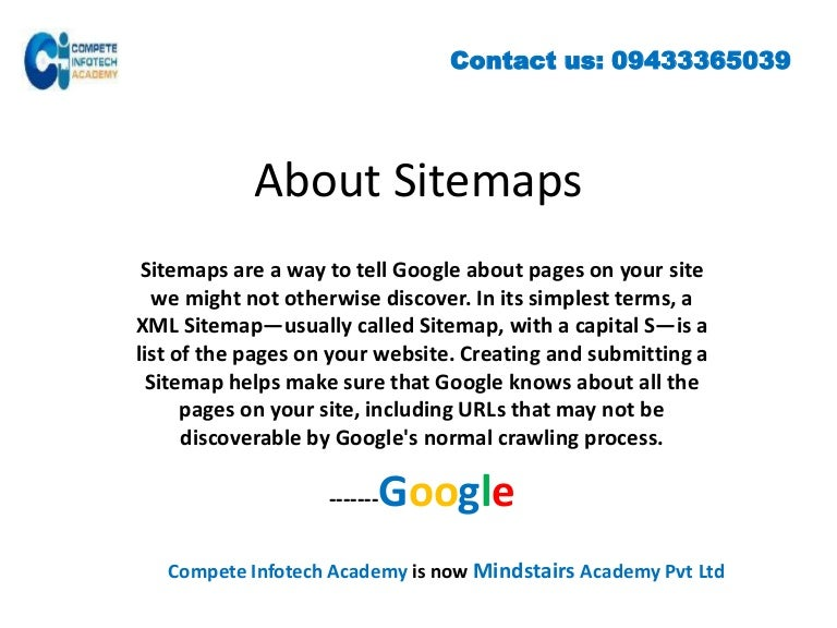 how to create an xml sitemap is an important topic of seo training in