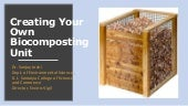 Creating Your Own Biocomposting Unit