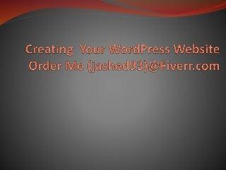 Creating your WordPress website